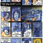 the new shirt comic in watercolour