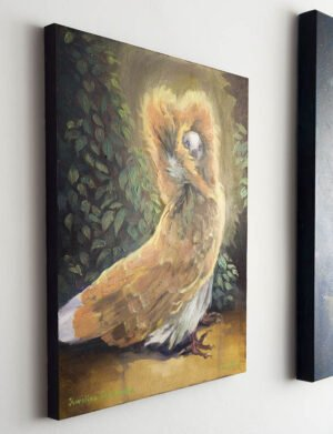 jacobin pigeon painting on wall