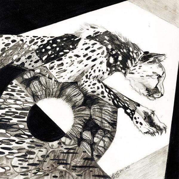 Original Art - Stylized Cheetah by Karolina Szablewska