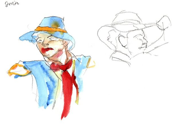 watercolor figure drawing matador