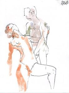 figure drawing watercolour