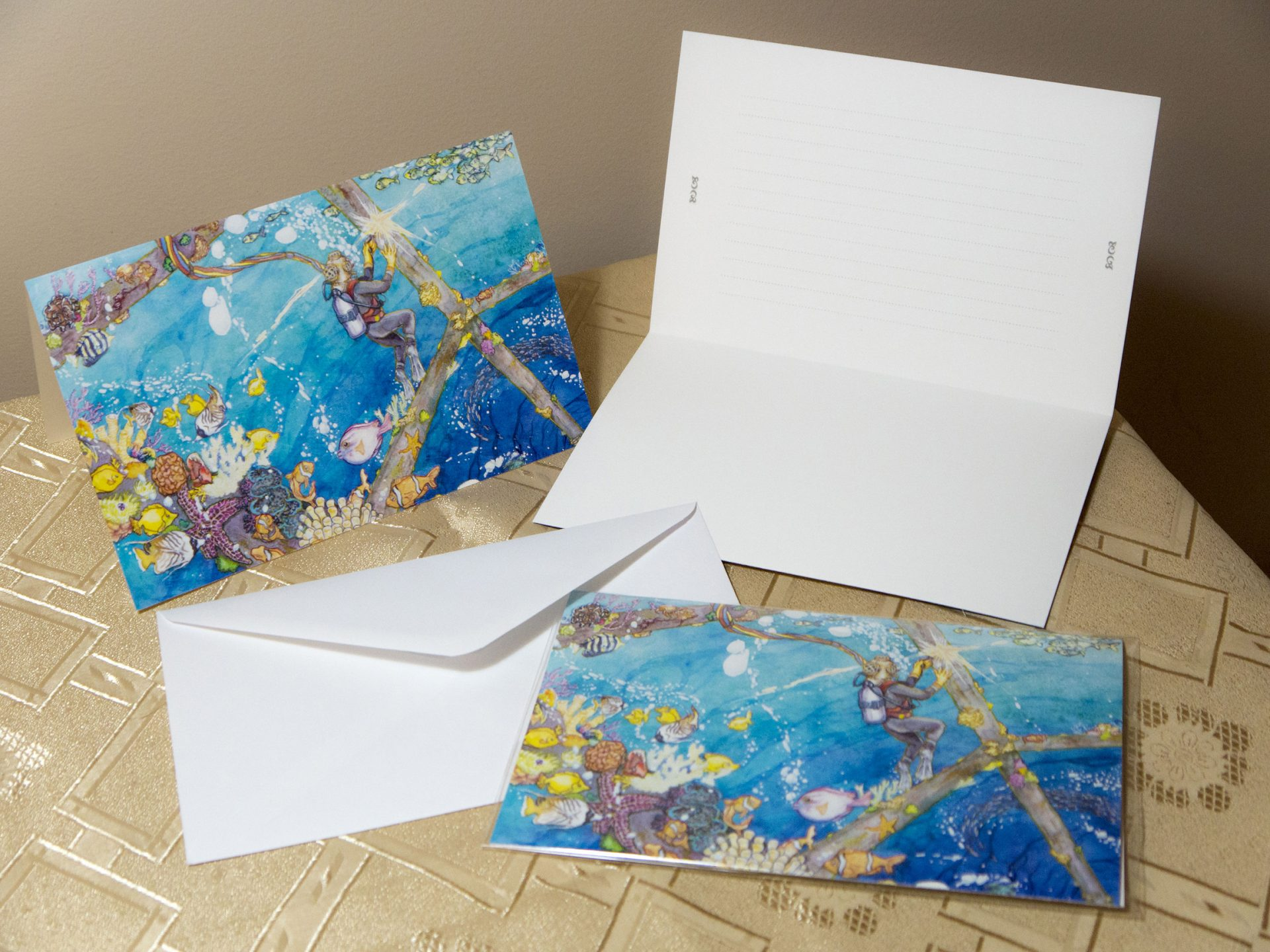 Welding in the Fantastic Sea Greeting Cards