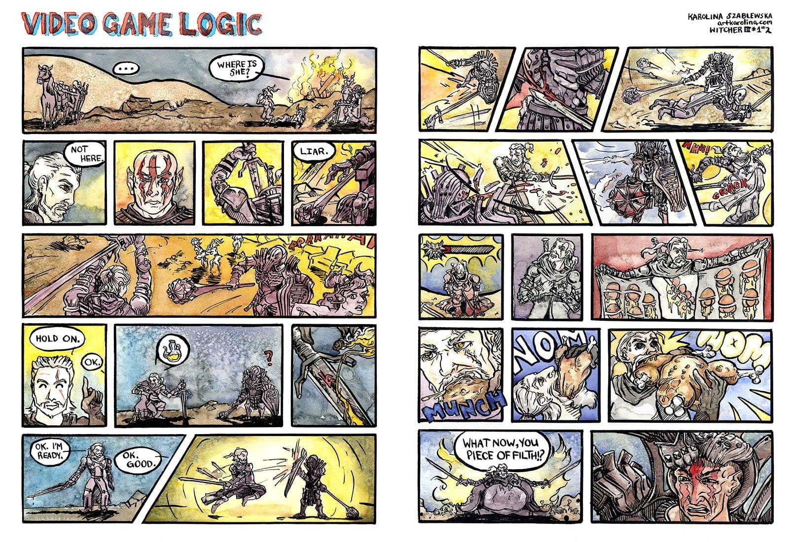 Witcher 3 Comic – Geralt & Imlerith
