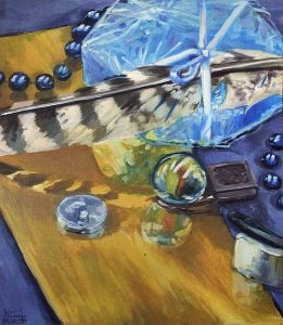 Setup Still Life Meaningful Objects oil painting