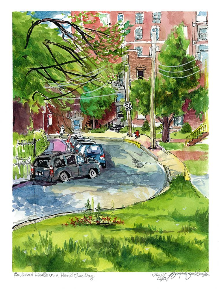 verdun neighbourhood painting by karolina szablewska boulevard lasalle