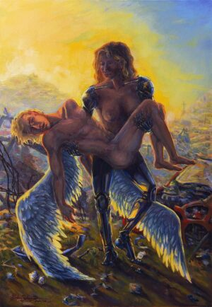 sci-fi art more human than human oil series lamentation of gaia oil painting