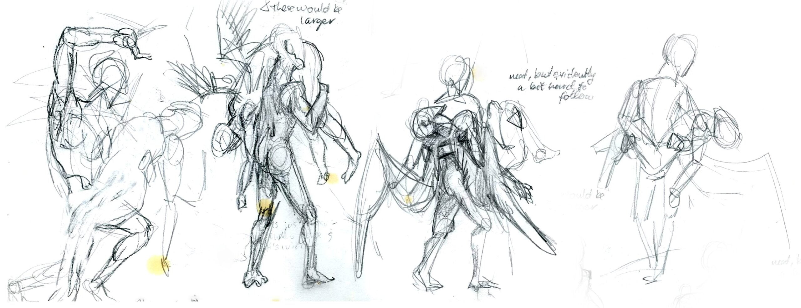 sketches for lamentation of gaia oil painting sci-fi art