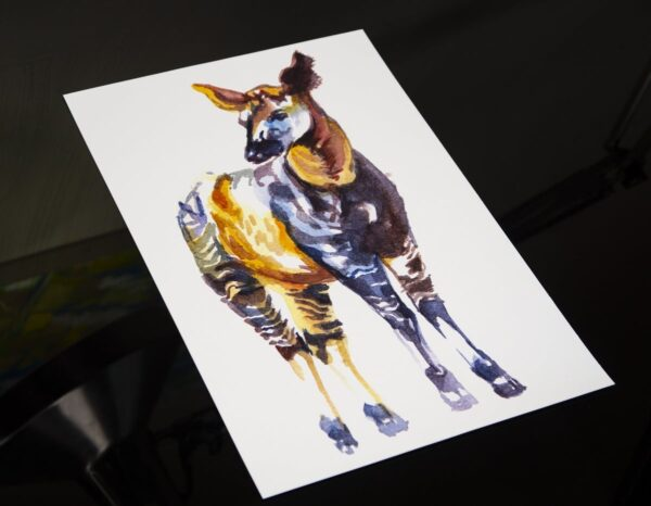 okapi watercolor print gilcee