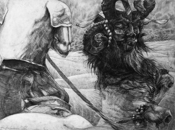 satan devil pencil art