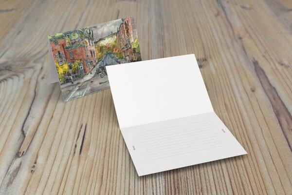 Cafe Santropol Greeting Cards by Karolina Szablewska