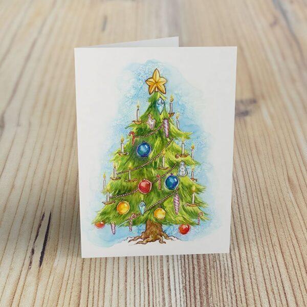 Christmas Tree - Greeting Cards by Karolina Szablewska