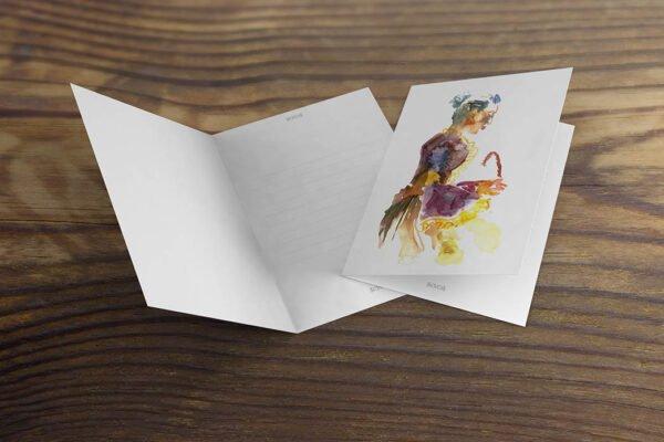 Renaissance Writing Greeting Cards by Karolina Szablewska