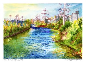 industrial river verdun neighborhood painting by karolina szablewska