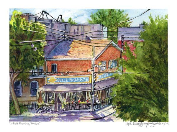 montreal en plein air watercolor painting by karolina szablewska