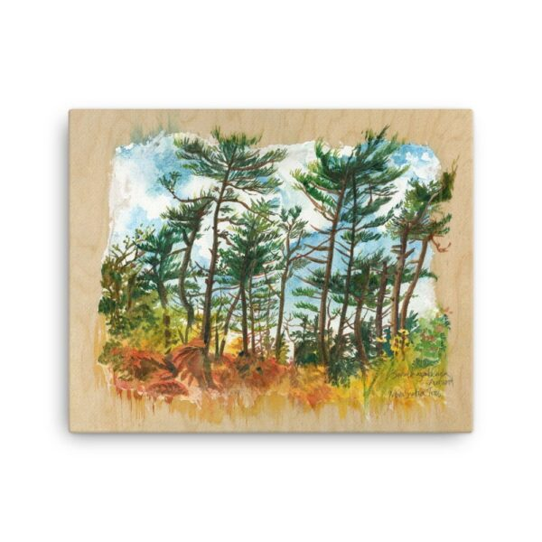 Canvas Wall Art - Nova Scotia Trees, Rustic Boreal Forest Painting by Karolina Szablewska