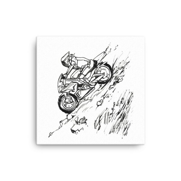 Black and White Canvas Wall Art - Inktober Cyborgs No. 028 by Karolina Szablewska
