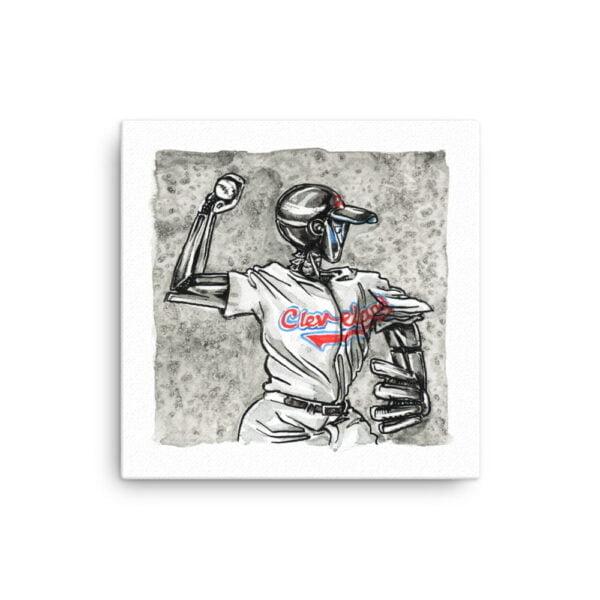Baseball Canvas Wall Art - Inktober Cyborgs No. 009 by Karolina Szablewska