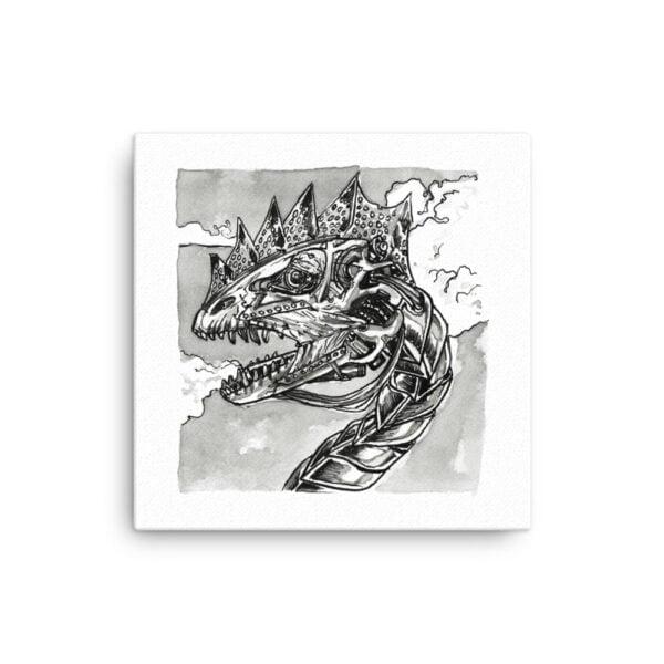 Dragon Canvas Wall Art - Inktober Cyborgs No. 012 by Karolina Szablewska