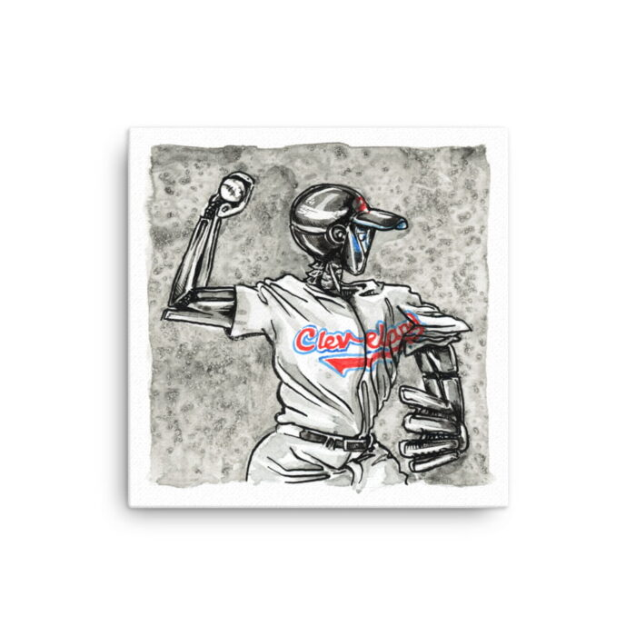 Baseball Canvas Wall Art - Inktober Cyborgs No. 009 by Karolina Szablewska