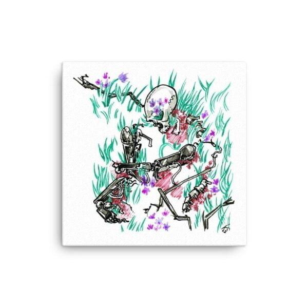 overgrown inktober drawing by karolina szablewska