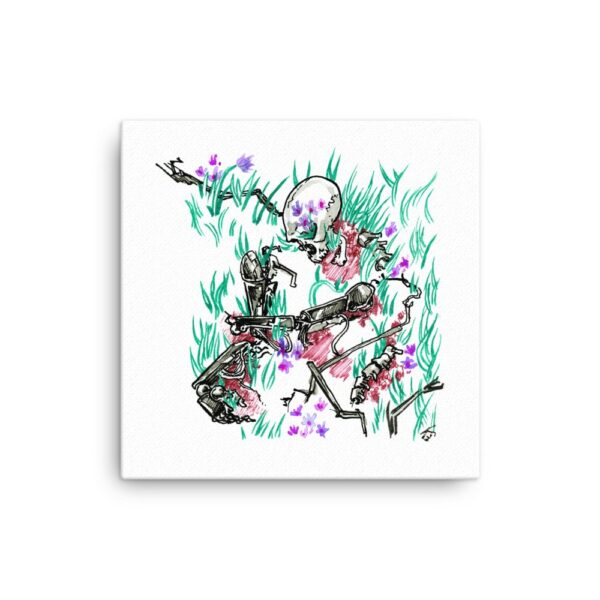 Occult Canvas Wall Art - Inktober Cyborgs No. 014 Overgrown by Karolina Szablewska