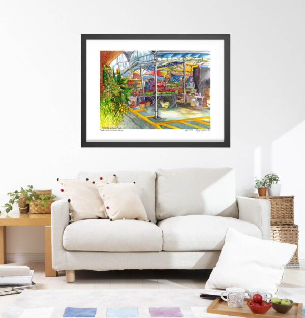 Montreal Art Prints - Extra Large Wall Art Prints of Atwater Market in Watercolor by Karolina Szablewska