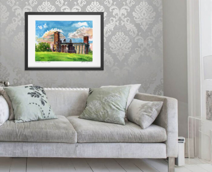 Montreal Art Prints - Extra Large Wall Art of Canada Malt Factory, a Watercolor Painting by Karolina Szablewska