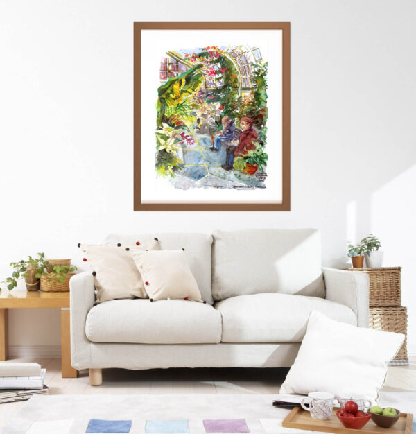 Montreal Art Prints - Westmount Greenhouse Extra Large Wall Art in Watercolor by Karolina Szablewska