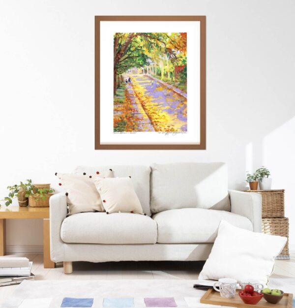 Montreal Art Prints - Extra Large Wall Art of Autumn Afternoon in Verdun by Karolina Szablewska