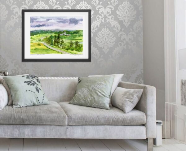 Cape Breton Art Prints - Dairy Farms by Mabou, Nova Scotia - Canadian Landscape Painting by Karolina Szablewska