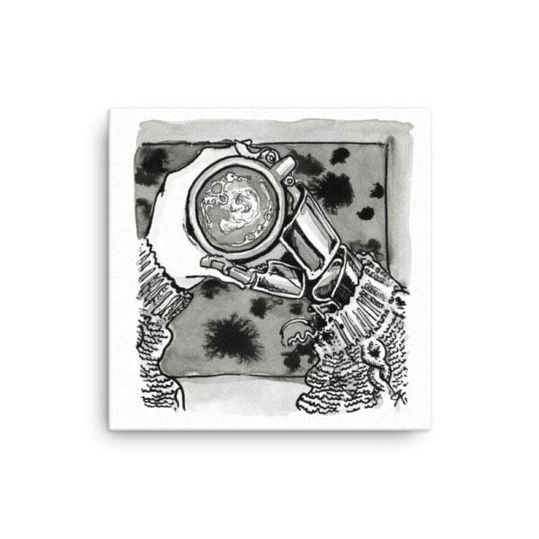 Hygge Canvas Wall Art - Inktober Cyborgs No. 020 Thread by Karolina Szablewska
