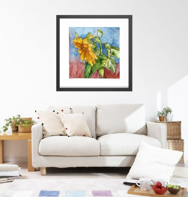 Sunflower Art Prints - September Sunflowers #2 Botanical Illustration / Sunflower Watercolor Painting by Karolina Szablewska