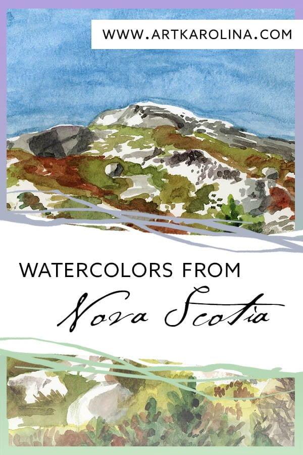 Watercolors from Nova Scotia by Karolina Szablewska