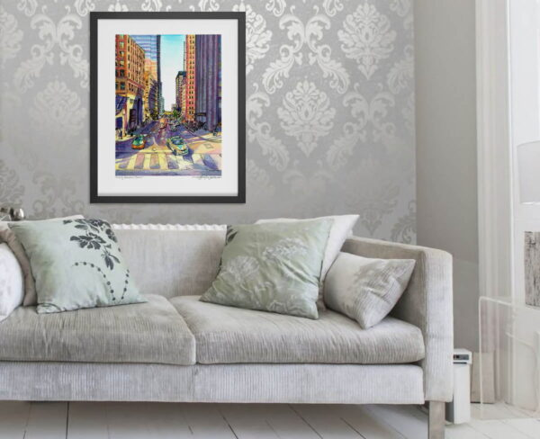 Toronto Art Prints - Extra Large Wall Art of Downtown Toronto / Cityscape Watercolor Painting / City Print by Karolina Szablewska