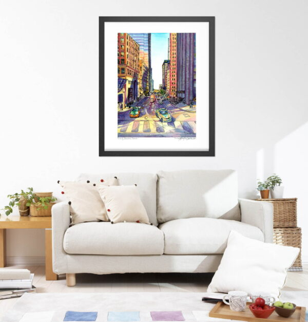 Toronto Art Prints - Extra Large Wall Art of Downtown Toronto / Cityscape Watercolor Painting / City Print by Karolina Szablewska