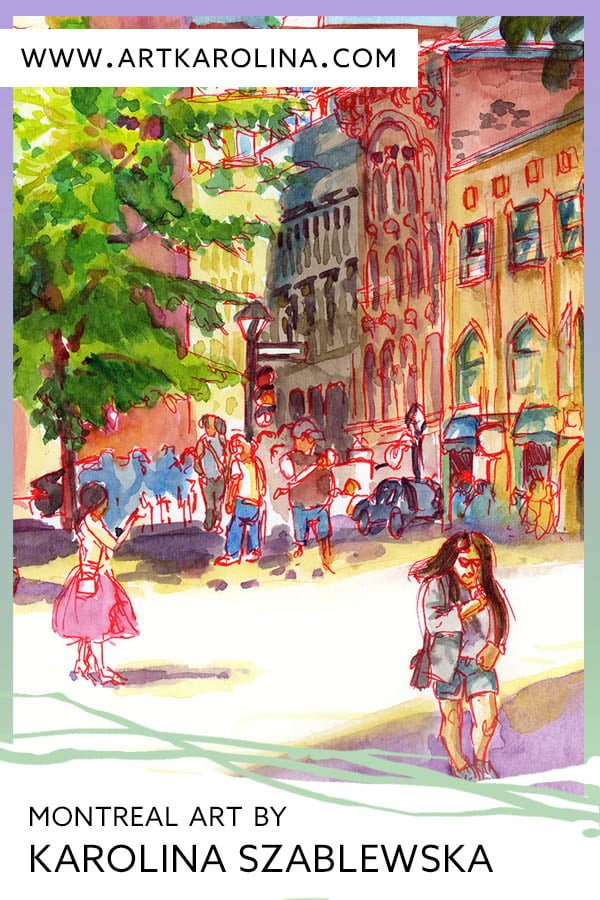 Old Montreal Art - Extra Large Wall Art Prints of Guitar Player at Place d'Armes | Quebec Canada Travel Art by Karolina Szablewska