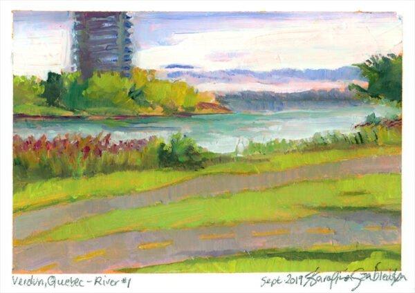 verdun river painting montreal oil painting by karolina szablewska