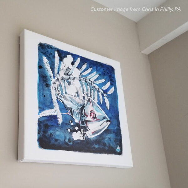 Inktober Cyborgs Canvas Wall Art Print Sample of Fish by Karolina Szablewska