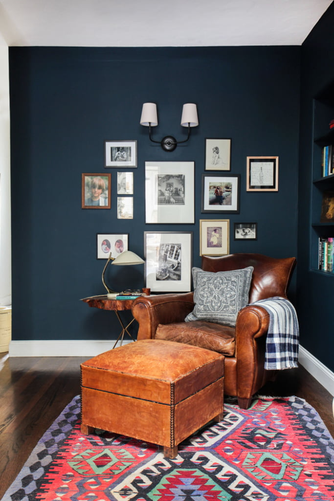 reading nook gallery wall by emily henderson