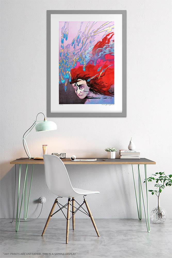 Surreal Print - Extra Large Wall Art / Dark Weird Art / Abstract Human Anatomy Art / Surrealism by Karolina Szablewska