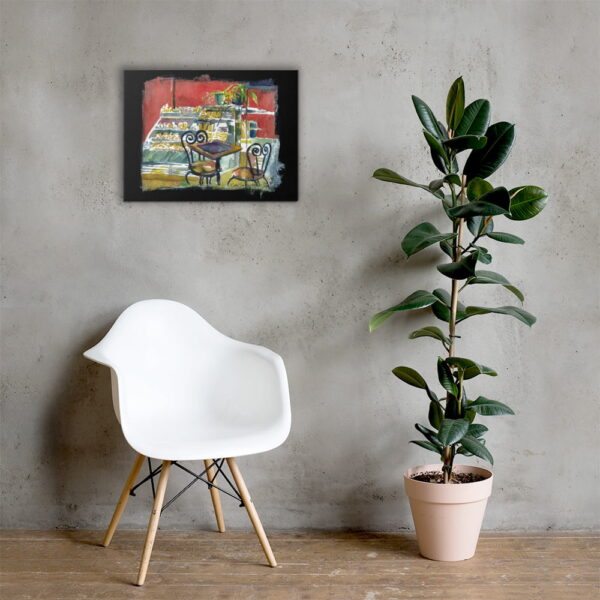 cafe saint henri montreal canvas wall art by karolina szablewska