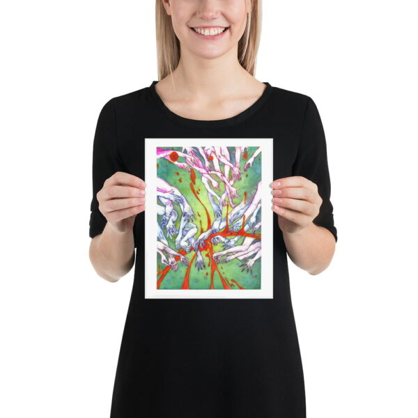 Surreal Print - Extra Large Wall Art / Dark Weird Art / Abstract Human Anatomy Art / Surrealism / Hand Drawing by Karolina Szablewska