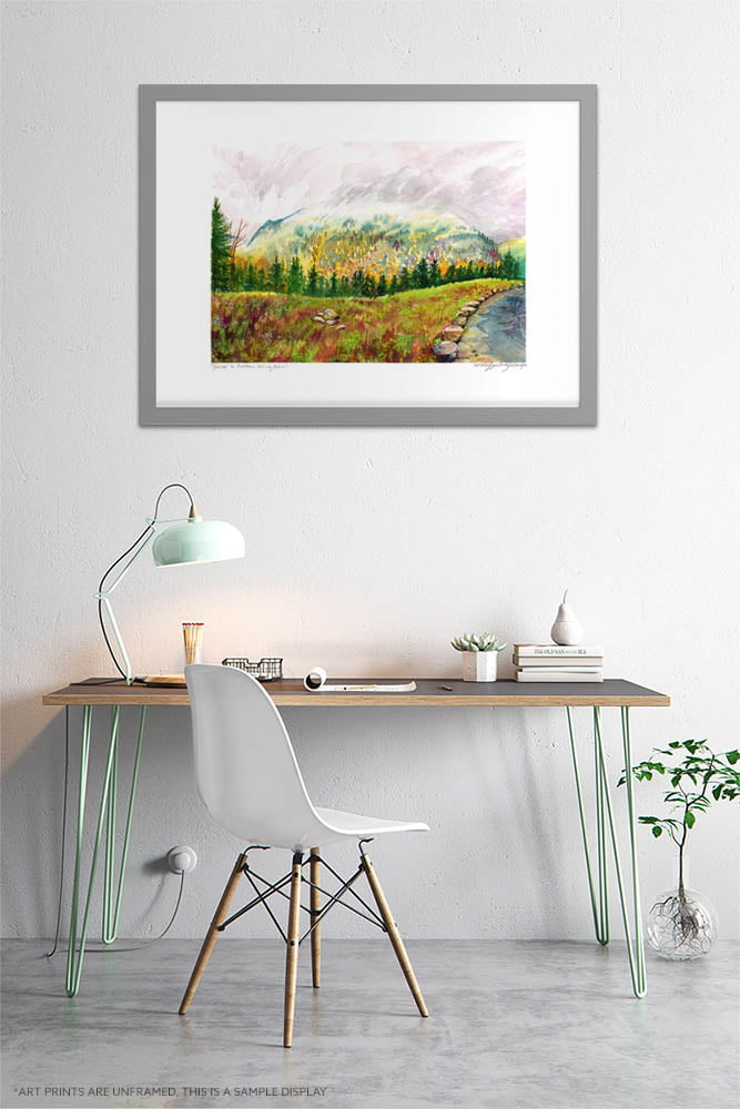 Foggy Forest Mountain Art Print - Green Extra Large Wall Art of Canadian Landscape / Jacques Cartier National Park by Karolina Szablewska