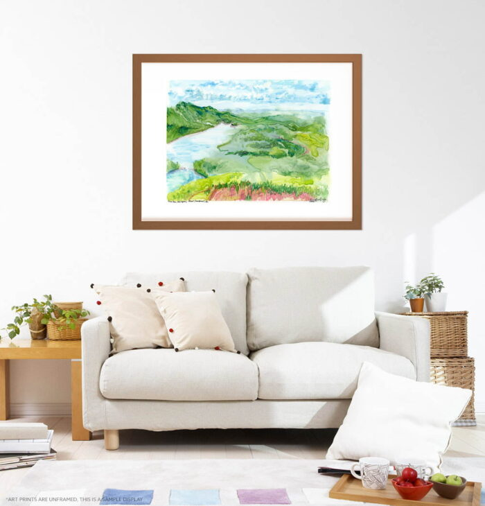 Mountain Art Print - Green Extra Large Wall Art of Canadian Landscape / Mont Tremblant Aerial View by Karolina Szablewska