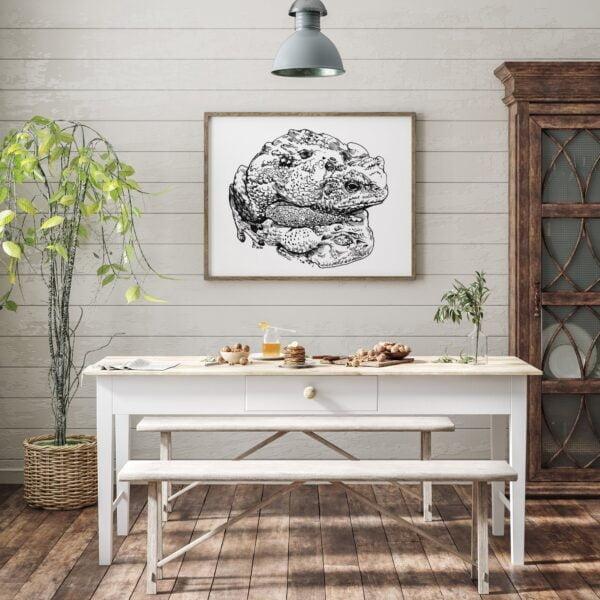 Toads on a Toad Stool - Creative Painting Process by Karolina Szablewska