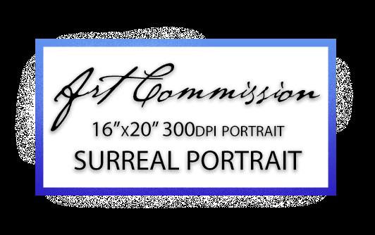 Art Commission - Custom Surreal Digital Portrait Painting by Karolina Szablewska